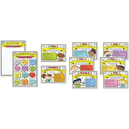 Carson-Dellosa Speaking And Listening Strategies Bulletin Board Set, Multicolor, Grades K-5