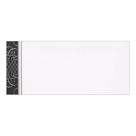 "Great Papers! #10 Coordinating Envelopes, Scrolls, #10, 9 1/2"" x 4 1/8"", Black/Silver, Pack Of 50"