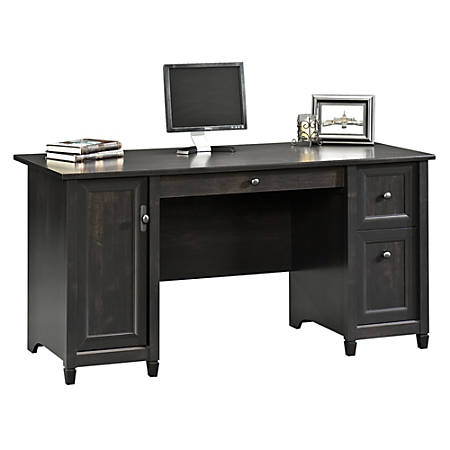 Sauder® Edge Water Computer Desk, Estate Black