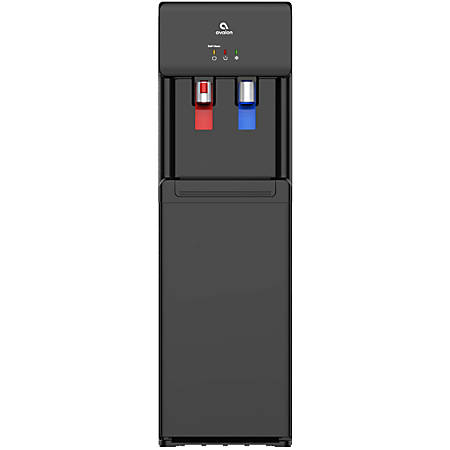 """Avalon Self-Cleaning Bottleless Hot/Cold Water Cooler, 13""""H x 12""""W x 41""""D, Black"""