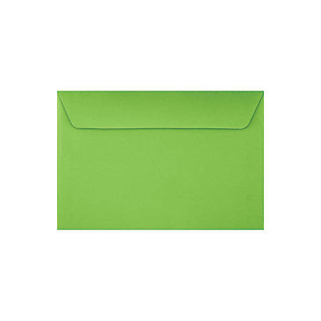 "LUX Booklet Envelopes With Peel & Press Closure, #6 1/2, 6"" x 9"", Limelight, Pack Of 250"