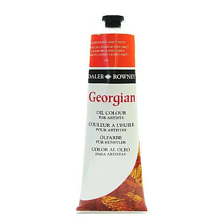 Daler-Rowney Georgian Oil Colors, 7.5 Oz, Cadmium Red Light