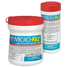 Medline Micro Kill Disinfectant Wipes 6