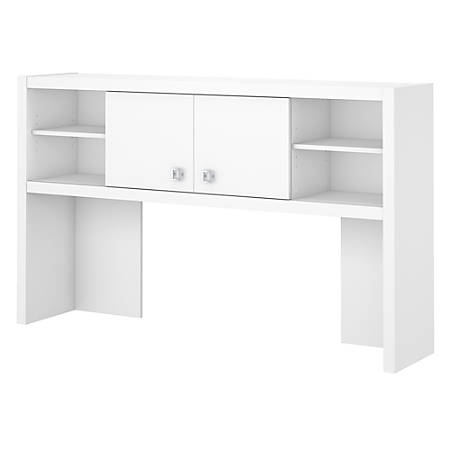 "kathy ireland® Office by Bush Business Furniture Echo Hutch, 60""W, Pure White, Standard Delivery"