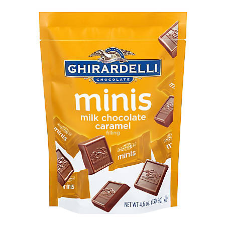 Ghirardelli® Minis Chocolates, Milk Chocolate With Caramel Filling, 4.6 Oz, Pack Of 3 Bags