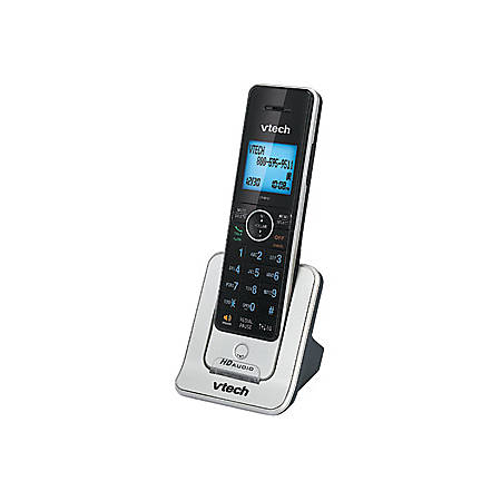 VTech LS6405 Accessory Handset for VTech LS64475-3, Silver - Cordless - DECT 6.0 - 50 Phone Book/Directory Memory - Silver, Black