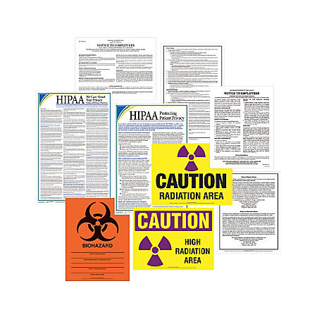 ComplyRight Healthcare Poster Kit, English, Indiana, Federal/State Posters