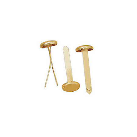 """Office Depot® Brand Brass Fasteners, 1 1/2"""" Length, Pack Of 60"""
