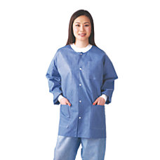 Medline Multilayer Lab Jackets Large White