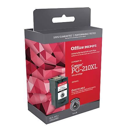 Office Depot® Brand ODPG210XL (Canon PG-210XL) Remanufactured Black Ink Cartridge