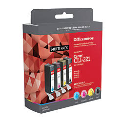 Office Depot Brand ODCLI221BCMY Canon CLI
