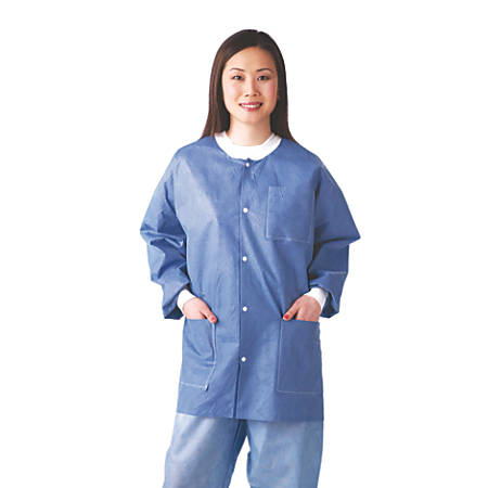 Medline Multilayer Lab Jackets, Medium, White, Case Of 30
