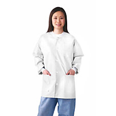Medline Multilayer Lab Jackets Small White
