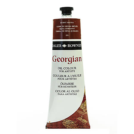 Daler-Rowney Georgian Oil Colors, 7.5 Oz, Burnt Sienna