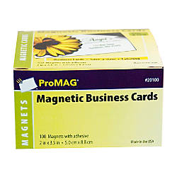 Promag magnetic business cards 2 x 3 12 pack of 100 by for Office depot links paper templates