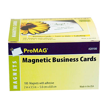 Promag magnetic business cards 2 x 3 12 pack of 100 by office depot promag magnetic business cards 2 x colourmoves