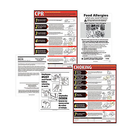 ComplyRight State Restaurant Poster Kit, English, Delaware