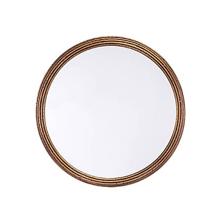 """Zuo Modern Zero Round Mirror, Small, 23 5/8""""H x 23 5/8""""W x 1""""D, Antique"""
