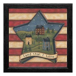 """Timeless Frames® Americana Framed Artwork, 12"""" x 12"""", Land That I Love"""
