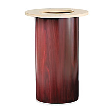 HON Preside Cylinder Table Base Mahogany