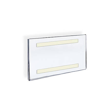 """Azar Displays Acrylic Sign Holders With Adhesive Tape, 5 1/2"""" x 8 1/2"""", Clear, Pack Of 10"""