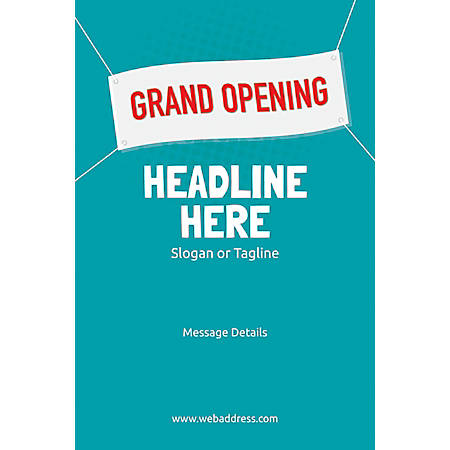 Custom Poster, Grand Opening Banner, Vertical
