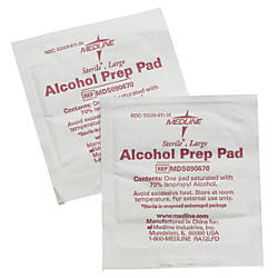 Medline Sterile Alcohol Prep Pads Large