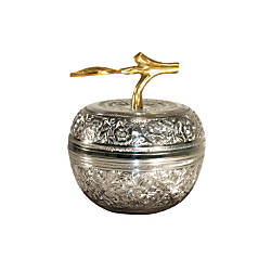 Silver Embossed Apple Dish Award