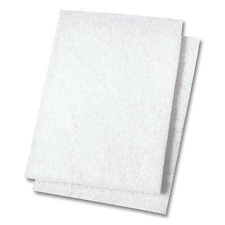 "Niagara™ Light Duty Scouring Pads, 98N, 6"" x 9"", White, Box Of 10"