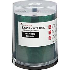 DataLocker EncryptDisk Recordable CD R Spindle