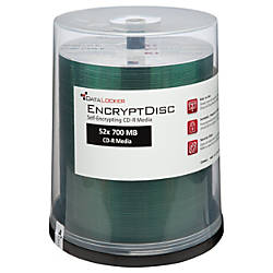 DataLocker EncryptDisk Recordable CD R Spindle