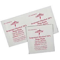 Medline Sterile Alcohol Prep Pads Medium