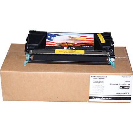 M&A Global Cartridges C734A1KG-CMA (Lexmark C734A1KG) Black Toner Cartridge