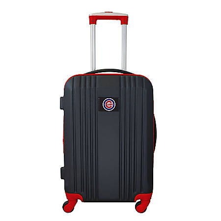 "Mojo L208 ABS Carry-On Hardcase Spinner, 21""H x 14""W x 9-1/2""D, Chicago Cubs, Black/Red"