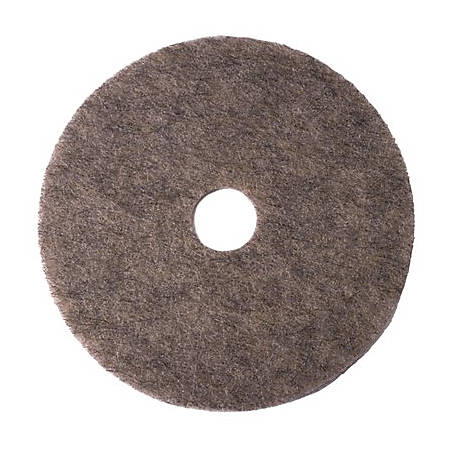 "Niagara™ 3700N Super Hog's Hair Burnishing Pad, 19"", Gray, Case Of 5 Pads"