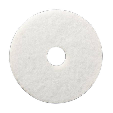 "Niagara™ 4100N Polishing Pads, 12"", White, Case Of 5"