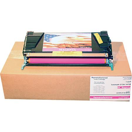 M&A Global Cartridges C734A1MG-CMA (Lexmark C734A1MG) Magenta Toner Cartridge