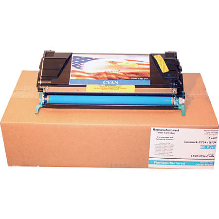 M&A Global Cartridges C734A1CG-CMP (Lexmark C734A1CG) Remanufactured Cyan Toner Cartridge