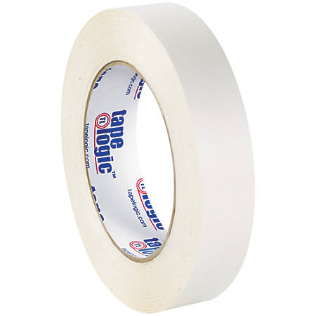 "Tape Logic® Double-Sided Film Tape, 3"" Core, 1"" x 180', White, Pack Of 48"