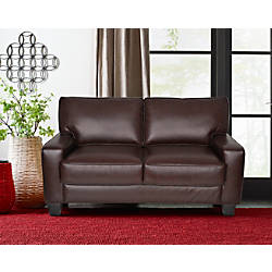 Serta Deep Seating Palisades Loveseat ChestnutEspresso