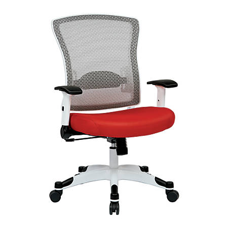 Office Star™ Space Seating Mesh Mid-Back Chair, Red/White