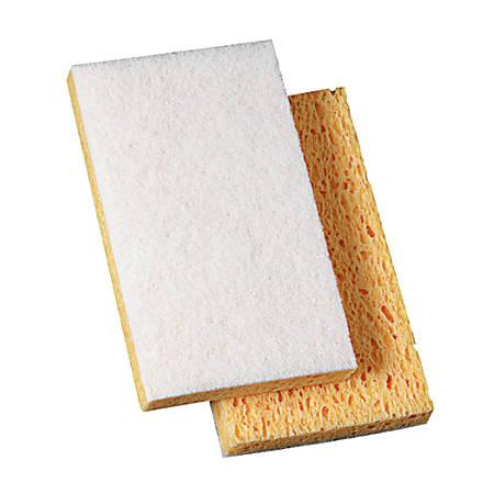 "Niagara™ Light Duty Scrubbing Sponge, 63N, 6 1/8"" x 3 5/8"", White, Pack Of 20 Pads"