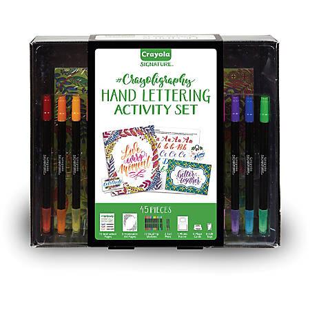 Crayola Signature Crayoligraphy Activity Set - Art Project - 45 Piece(s) - 1 Each - Assorted
