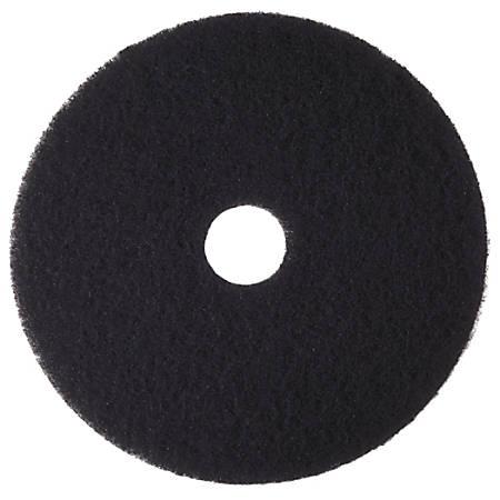 """Niagara™ 7400N Stripping Floor Pad, High-Performance, 13"""" Diameter, Black, Pack Of 5"""