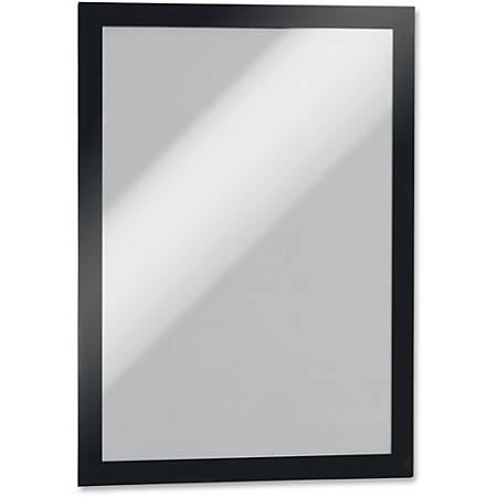 "DURABLE DURAFRAME Self-Adhesive Infoframe - 9.50"" x 12"" Frame Size - Holds 8.50"" x 11"" Insert - Rectangle - Horizontal, Vertical - Self-adhesive, Sturdy, Magnetic, - 2 / Pack - Black"