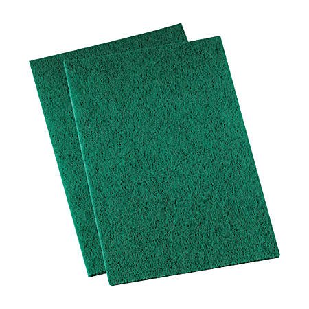 "3M™ Niagara™ 96N Medium-Duty Scouring Pads, 6"" x 9"", Green, Pack Of 20"