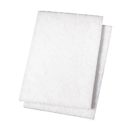 "Niagara™ Light-Duty Scouring Pad 98N, 6"" x 9"", White, Pack Of 20"