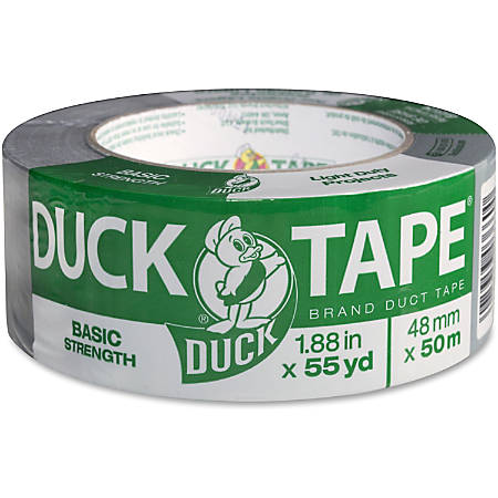 "Duck Brand Basic-strength Utility Tape With Cotton Backing, 1.88"" x 55 Yd., Gray"