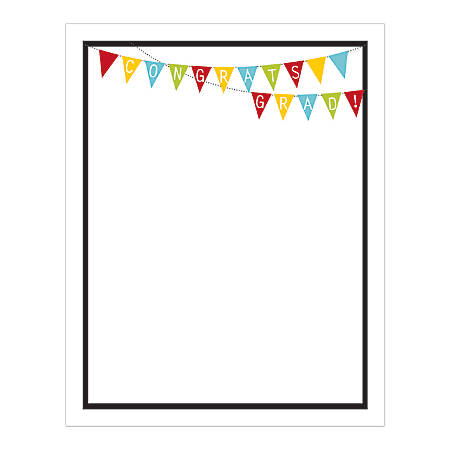 "Great Papers!® Grad Design Paper, Grad Bunting, 8 1/2"" x 11"", 50 Lb, Assorted, Pack Of 50"