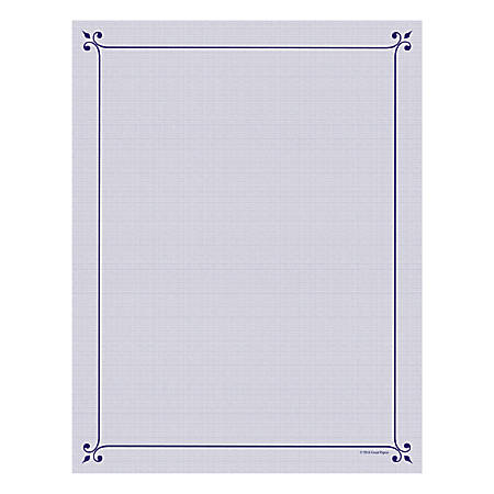 "Great Papers! Design Paper, Corner Flourish, 8 1/2"" x 11"", 50 Lb, Navy/Purple, Pack Of 80"
